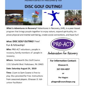 PRO-ACT Disc Golf Flyer