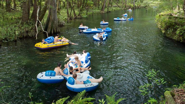 Canal Tubing With a Campfire, S'mores & Hotdogs